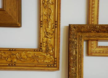 Gilded frames from the frame exhibit at Indian Hill