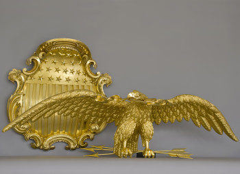 Gilded,US Senate, Eagle & Shield After Conservation Treatment