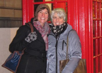 Sue Jackson and Allison Jackson in London for a gilding conference