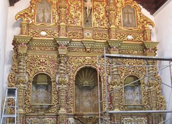 Gilded Italian Altar piece, Bayamo, Cuba, Harvard Art visit