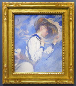 Edmund Tarbell, Summer breeze, 1904, Currier Museum of Art, in a Carrig-Rohane frame