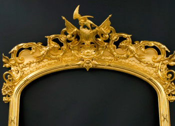 Senate Pier Mirror - After gilding conservation treatment