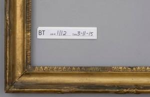 Gilded frame before treatment