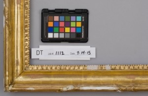 Gesso fills and ornament replacements on gilded frame