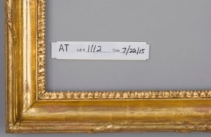 Completed treatment of gilded frame