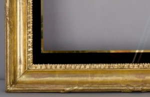 Gilded frame with glass mat