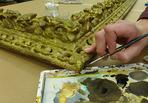 Frame conservation for the Davis Museum