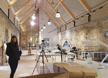 Allison Jackson in the Knole Conservation Studio