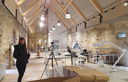Allison Jackson in the Knole Conservation Studio
